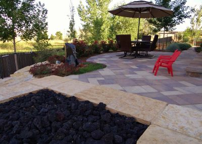 Patio With Fire And Water